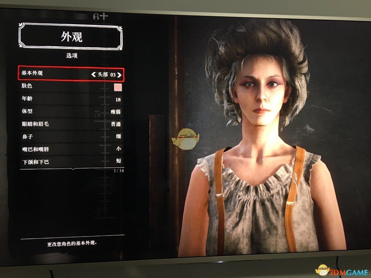 《荒野大镖客2》online白发美女捏脸数据一览