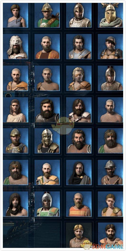 《刺客信条:奥德赛》全船员头像一览