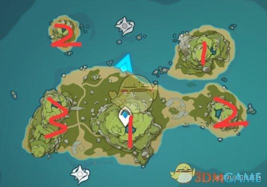 《原神》破破岛的三个华丽宝箱攻略
