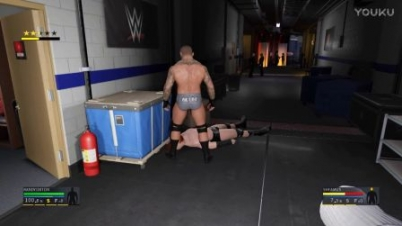 WWE2K17 新模式:后台混战 兰迪奥顿VS西莫斯