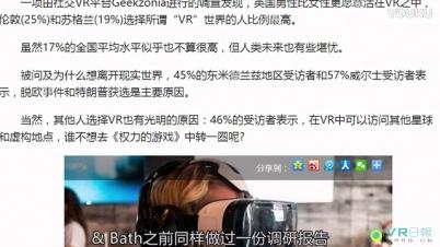 两成英国人想要住进VR 但他们可能撑不过30分钟