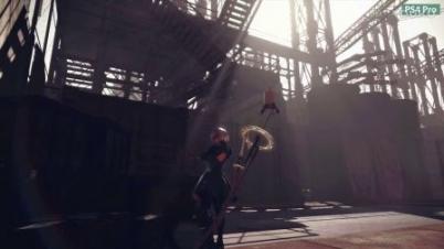 《尼尔:机械纪元》PS4与PS4 PRO画面对比