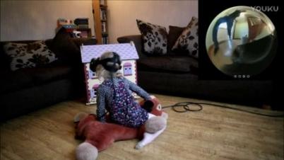 老爸给女儿制作专属VR游戏