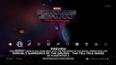 《银河护卫队:故事版》PS4动态主题