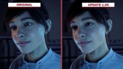 《质量效应:仙女座》原版和1.05补丁后画面对比