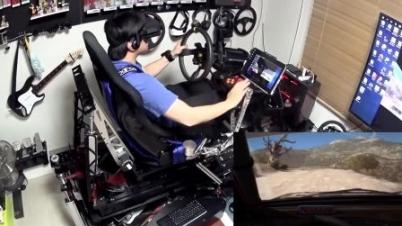 用17万打造的顶级VR外设玩赛车游戏