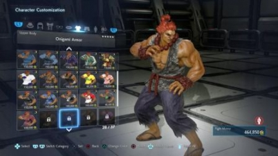 TEKKEN 7 (PS4) Player & Akuma Full Character Customization (1080p 6