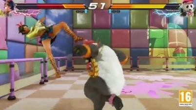 TEKKEN 7 - Panda Vs Josie - Kinder Gym New Stage