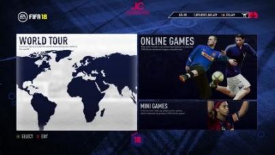 FIFA 18 首曝菜单界面