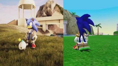 《索尼克大冒险2》虚幻引擎4对比视频