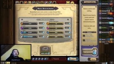 《炉石传说》主播销毁3万张卡游戏崩溃