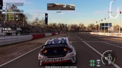 《赛车计划2》Honda Civic GRC追踪视角演示