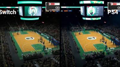 <NBA2K18>PS4对比Switch