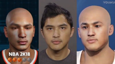 《NBA 2K18》vs《NBA LIVE 18》捏脸对比
